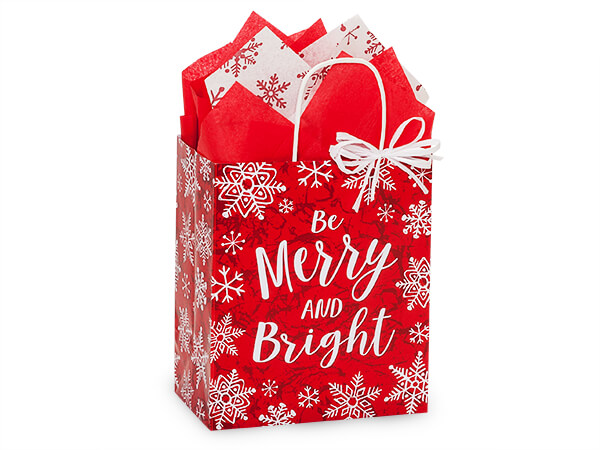 "Merry Little Christmas Paper Bag Cub, 8x4.75x10.25"", 25 Pack"