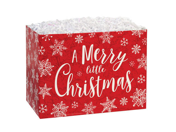 "Merry Little Christmas Basket Boxes, Small 6.75x4x5"", 6 Pack"