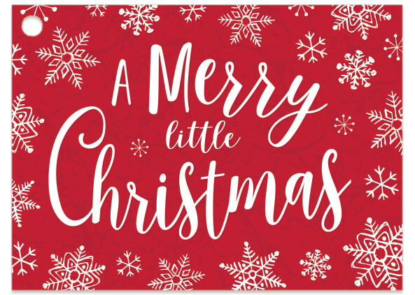 "Merry Little Christmas Theme Gift Cards, 3.75x2.75"", 6 Pack"