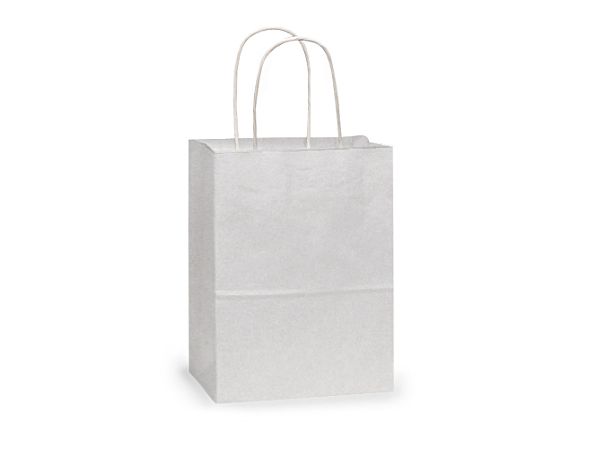 "Rose White Kraft Paper Bags 25 Pk 5-1/4x3-1/2x8-1/4"""