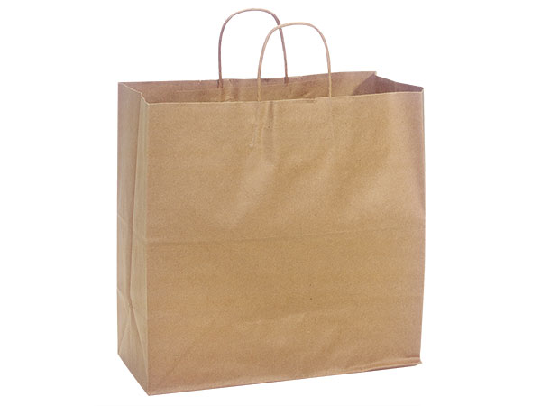 Filly Natural Kraft Shopping Bags 25 Pk 13x7x13""