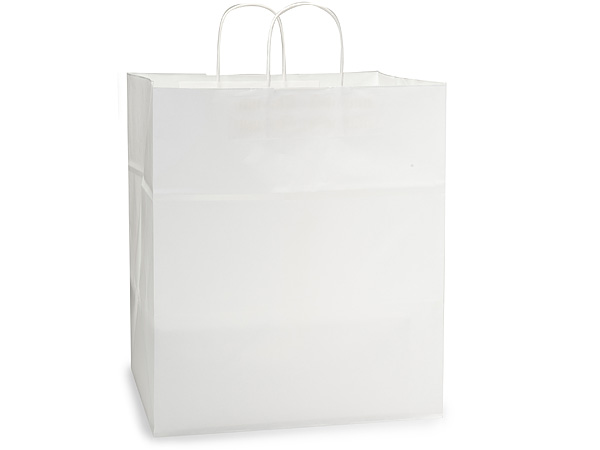 Regal White Kraft Paper Bags 25 Pk 14x10x15.5""
