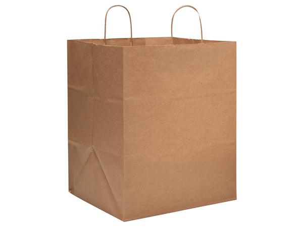 """Take Out Brown Kraft Paper Bags 25 Pk 14x12x17"""""""