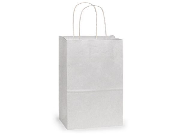 """Debbie White Kraft Paper Bags 25 Pk 8-3/4x6 X14"""""""