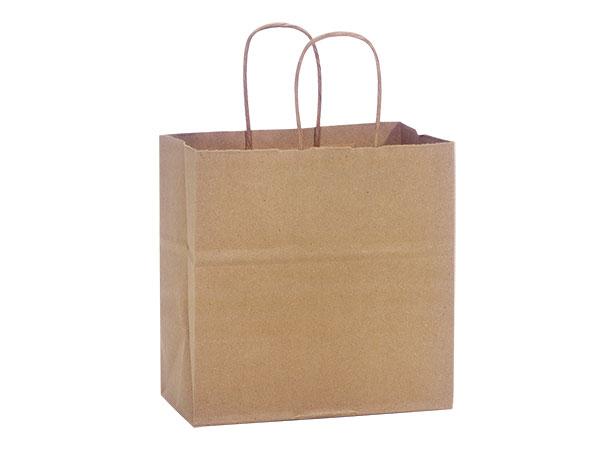 "Junior Natural Kraft Shopping Bags 25 Pk 8x5x8"""