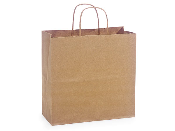 Joey Natural Kraft Shopping Bags 25 Pk 10x5x10""