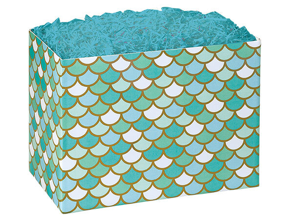 Large Mermaid's Paradise Basket Boxes 10-1/4x6x7-1/2""
