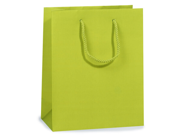 """Lime Matte Gift Bags, Cub 8x4x10"""", 10 Pack"""