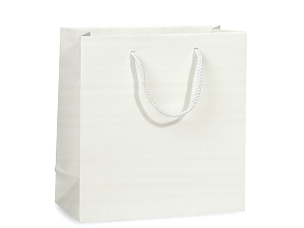 "White Matte Gift Bags, Filly 12x5x12"", 10 Pack"