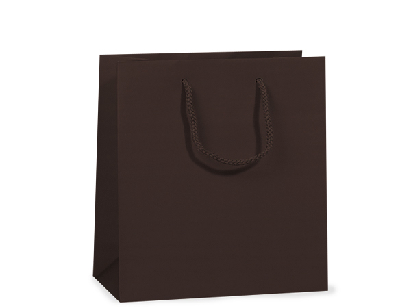 "Chocolate Matte Gift Bags, Jewel 6.5x3.5x6.5"", 100 Pack"