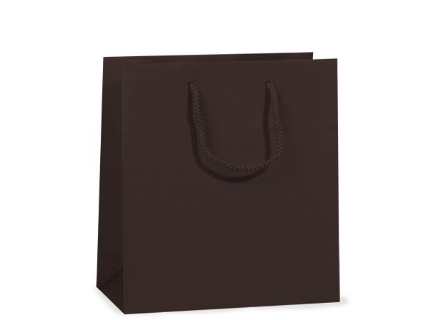 "Chocolate Matte Gift Bags, Jewel 6.5x3.5x6.5"", 10 Pack"