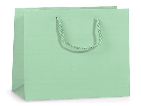 "Aqua Matte Gift Bags, Medium 13x5x10"", 100 Pack"
