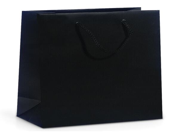 "Black Matte Gift Bags, Medium 13x5x10"", 10 Pack"