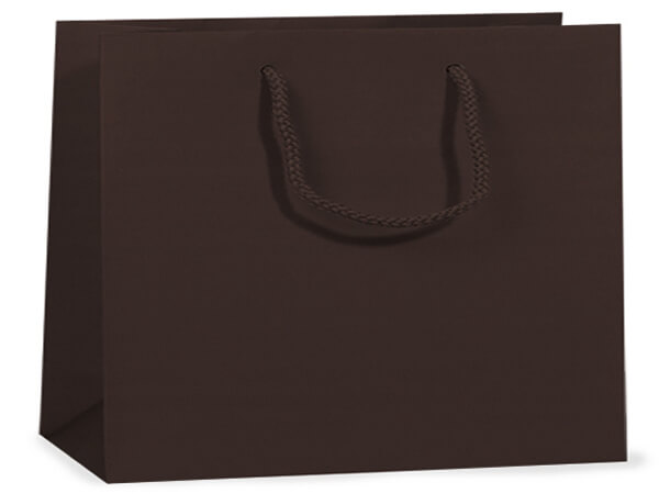 """Chocolate Matte Gift Bags, Vogue 16x6x12"""", 100 Pack"""