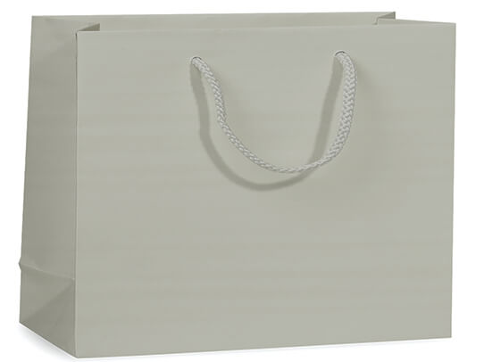 """Silver Matte Gift Bags, Vogue 16x6x12"""", 100 Pack"""