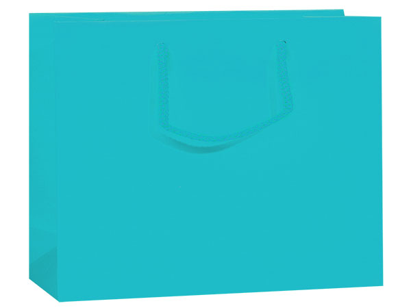 """Turquoise Matte Gift Bags, Vogue 16x6x12"""", 10 Pack"""