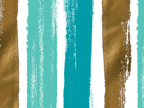 "Metallic Seaside Brush Strokes, 30""x50' Wrapping Paper Roll"