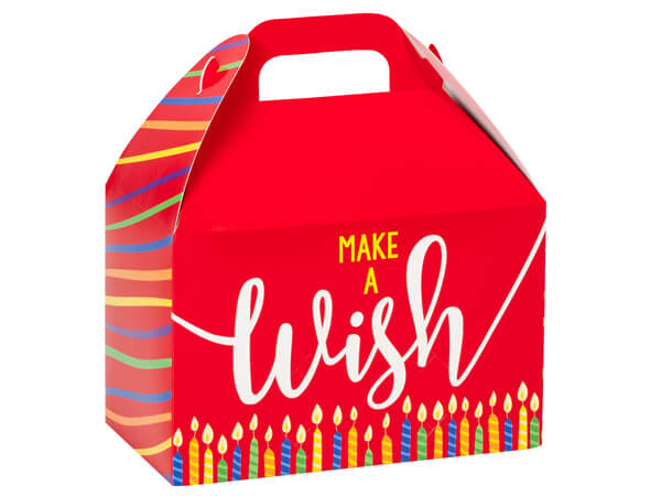 """Make a Wish Candles Gable Boxes, 8-1/2 x 4-3/4 x 5-1/2"""", Pack 6"""