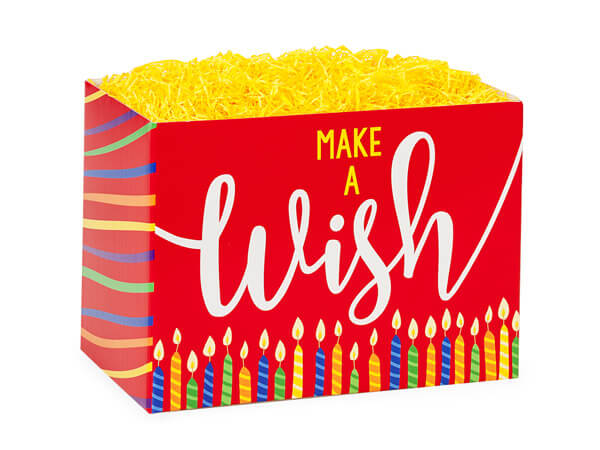 "Make A Wish Candles Basket Boxes, Small 6.75x4x5"", 6 Pack"