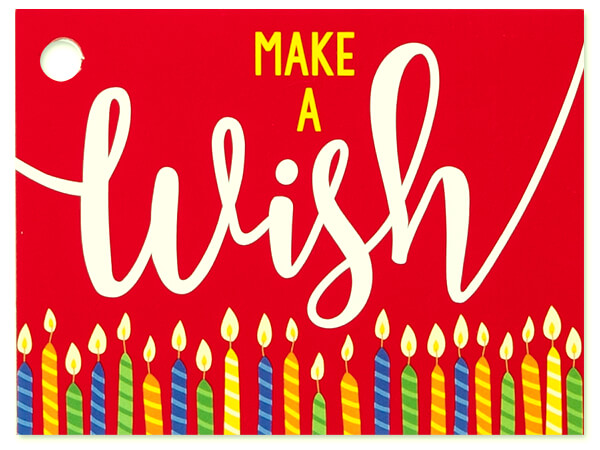Make A Wish Candles Theme Gift Cards 3-3/4x2-3/4""
