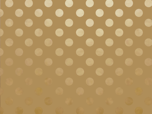 "Metallic Gold on Gold Dots 30"" x 50' Gift Wrap Roll"