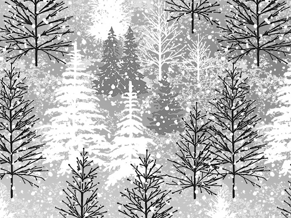Frosted Forest Metallic Gift Wrap