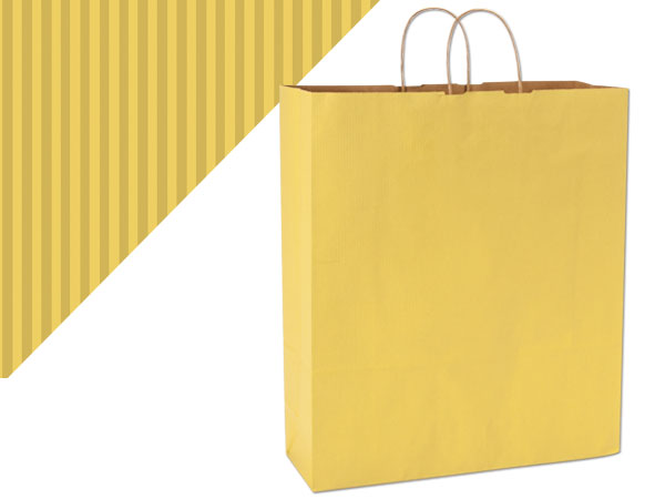 "Mellow Yellow Shadow Stripe Bags Queen 16x6x19.25"", 200 Pack"