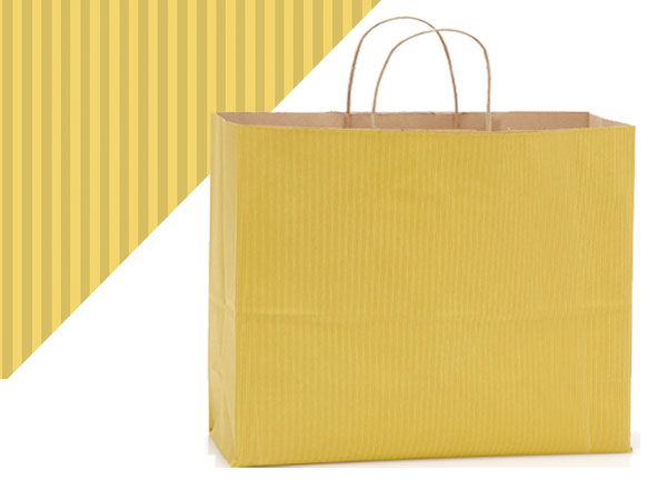 Shadow Stripe Kraft Color Shopping Bags