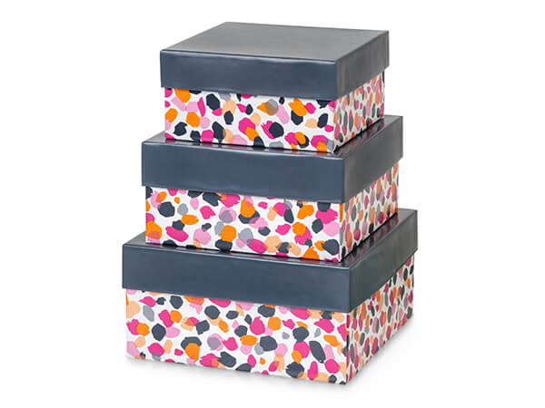 Jungle Spots Nested Boxes Large 3 Piece Set