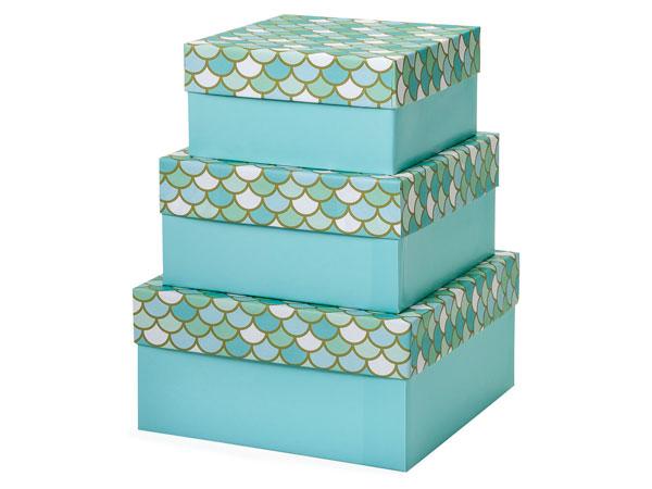Mermaid's Paradise Nested Boxes Large 3 Piece Set