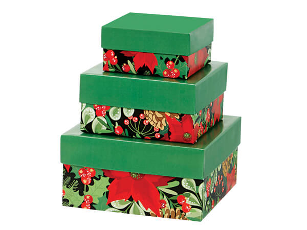 Christmas Botanicals Small Nested Tower Boxes
