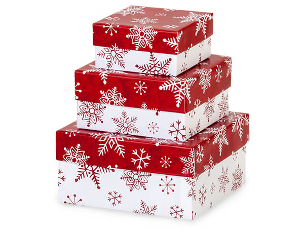 Merry Little Christmas Nested Boxes Small 3 Piece Set