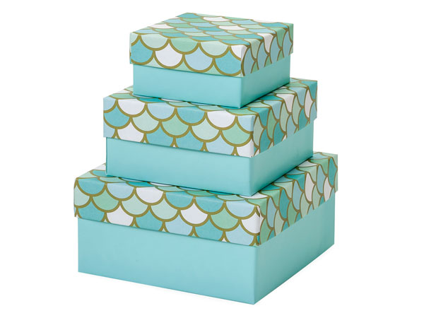 Mermaid's Paradise Nested Boxes Small 3 Piece Set