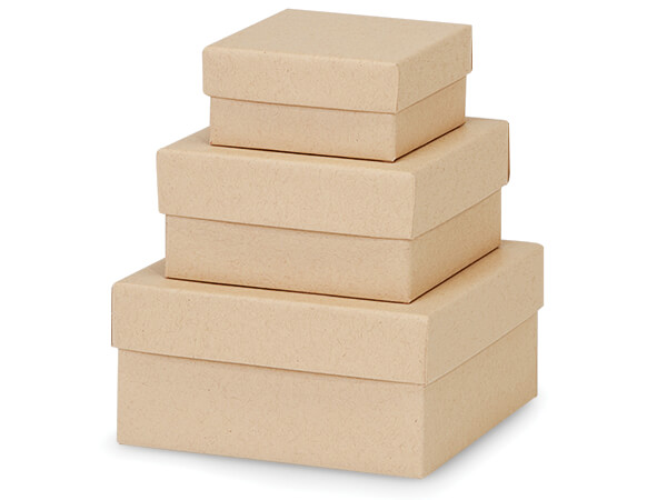 Natural Kraft Nested Boxes, Small 3 Piece Set