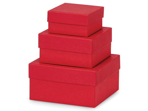 Wild Cherry Red Nested Tower Boxes