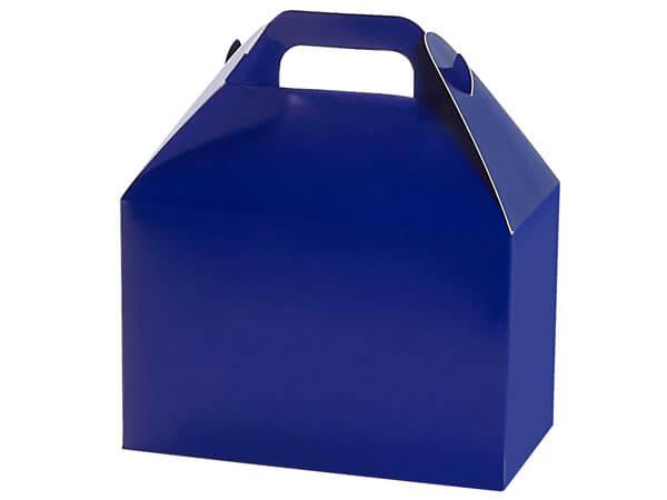 """Navy Blue Gloss Gable Box, 8.5x4.75x5.5"""", 6 Pack"""