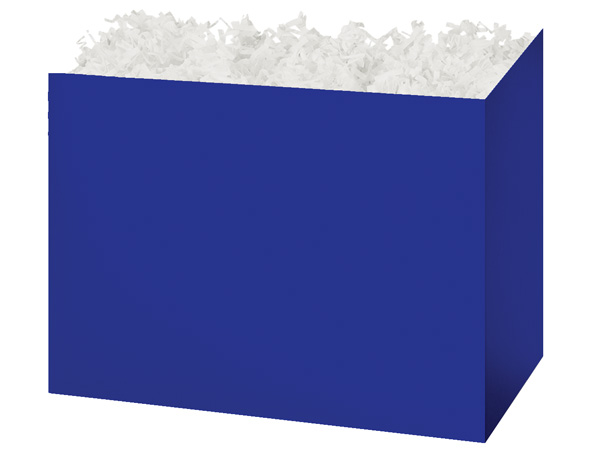 Large Solid Navy Blue Basket Boxes 10-1/4x6x7-1/2""