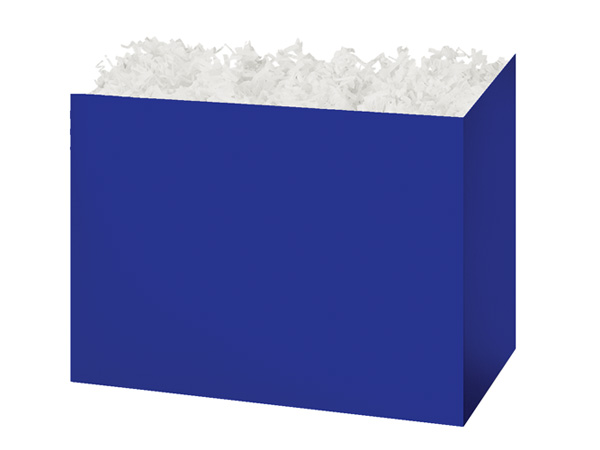 Medium Solid Navy Blue Basket Boxes 8-1/4x4-3/4x6-1/4""