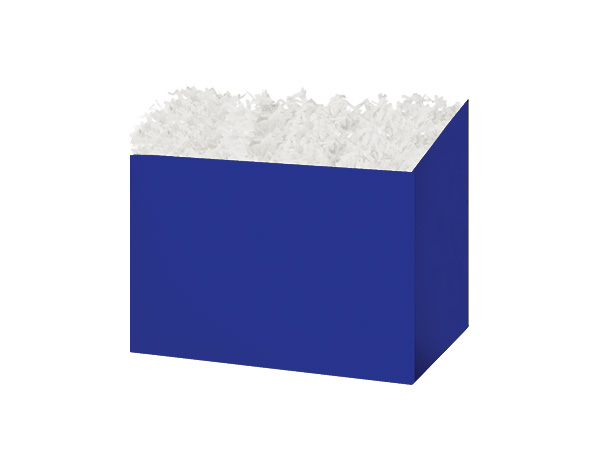 Small Solid Navy Blue Basket Boxes 6-3/4x4x5""