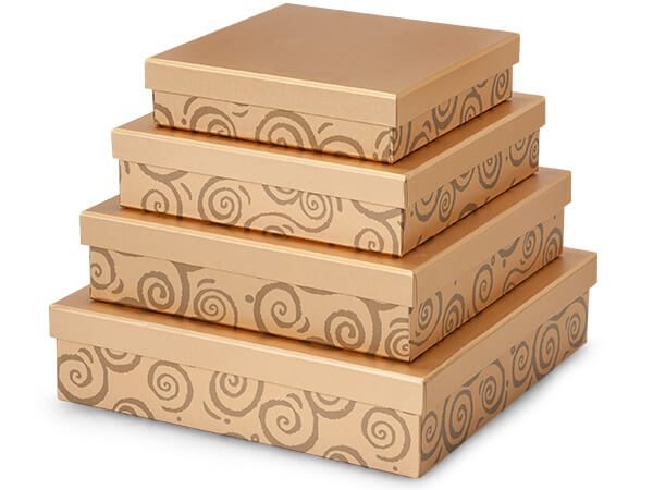 Gold Swirl Gourmet Nested Boxes