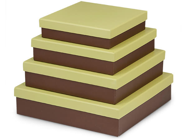 **Pistachio Chocolate Nested Gourme Boxes, Set of 4