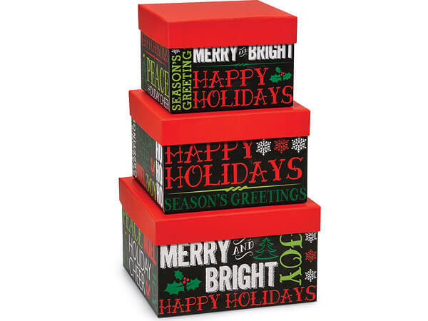 Holiday Greetings Nested Boxes