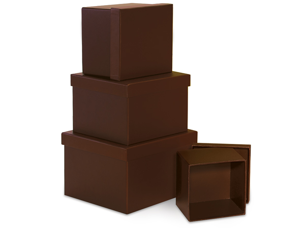 Square Chocolate Nested Boxes