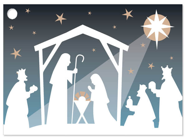 Nativity Star Gift Cards 3-3/4x2-3/4""