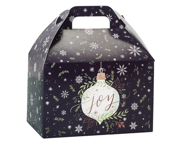 "Ornament Joy Gable Box, 8.5x5x5.5"", 6 Pack"