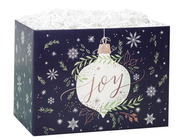 "Ornament Joy Basket Boxes, Large 10.25x6x7.5"", 6 Pack"