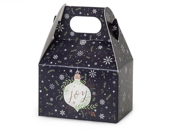 """Ornament Joy Mini Gable Boxes, 4x2.5x2.5"""", 6 Pack"""