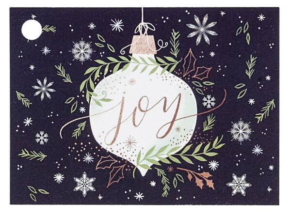 """Ornament Joy Theme Gift Cards, 3.75x2.75"""", 6 Pack"""