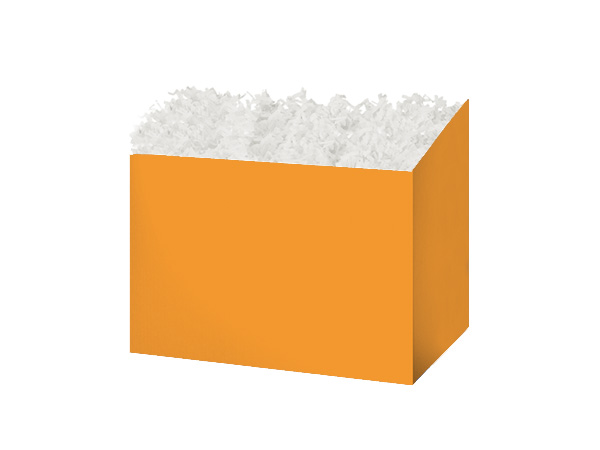 Small Solid Orange Basket Boxes 6-3/4x4x5""