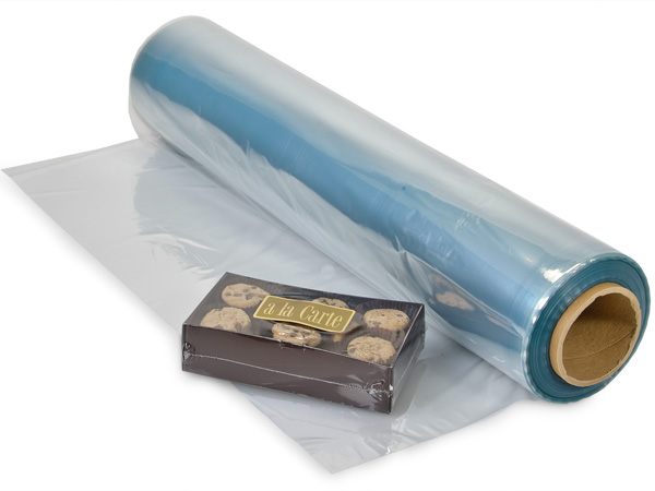 "22""x100' Shrink Wrap Centerfold Film - 100 Gauge PVC"